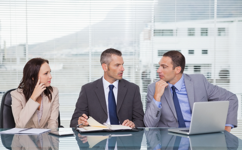 http://www.dreamstime.com/stock-photography-serious-business-people-talking-together-waiting-inter-interview-bright-office-image33053352